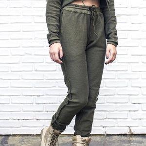Danielle Guizio Olive Green Sweatpants